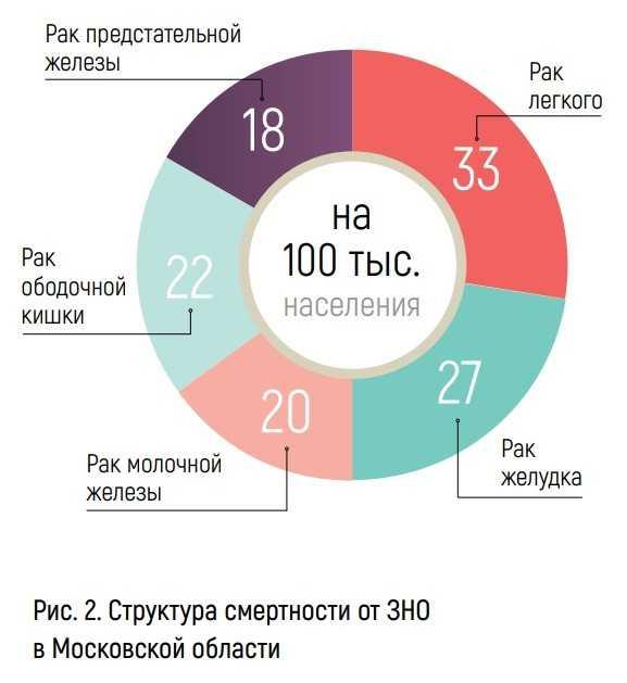 Структура смертности от ЗНО в Московской области